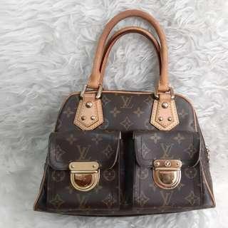 Authentic Louis Vuitton Manhattan PM Monogram PReloved Bag in Good Condition💚💛🌼🌻🍀
