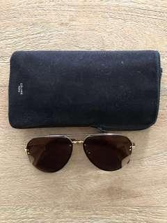 Celine Sunglasses 41391/S Mirror J5G LC Gold Brown Gold