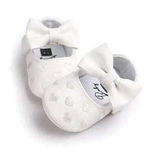 Newborn Baby Girls Princess Heart-Shaped Prewalker Shoes