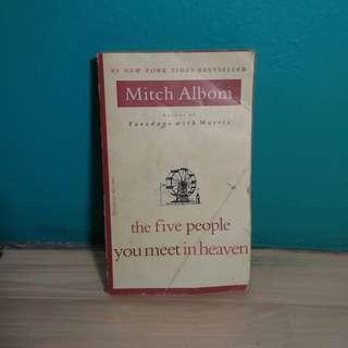 The Five People You Meet in Heaven - Mitch Albom Buku Secondhand Bekas