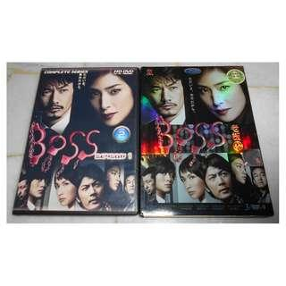 [JAPANESE DRAMA][READY STOCK] BOSS SEASON 1 AND 2 DRAMA SERIES DVDS - BUY BOTH FOR RM50 (NOT INCLUDE POSTAGE)