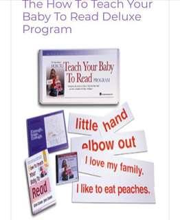Glenn Doman teach your baby to read flash cards (RED)
