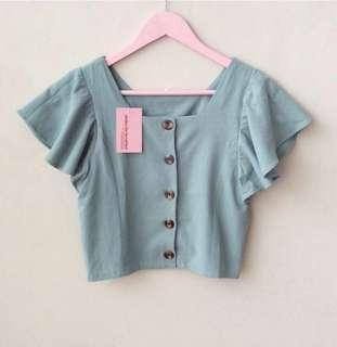 Clothes for breakfast taffy linen top