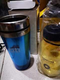 Citi bank cup n Macqarie bottle