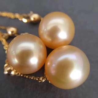 天然海水金珍珠