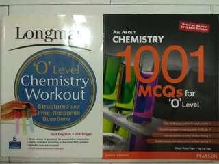 Longman O level Chemistry Workout & All About Chemistry 1001 MCQs for O level