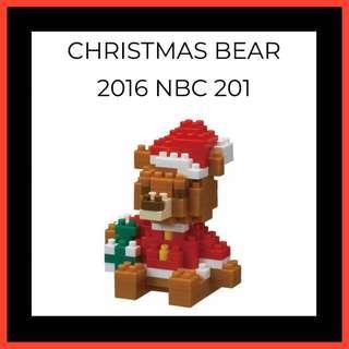 Nanoblock - Christmas Bear - Brand New - NBC 201