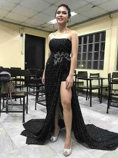 Black evening gown for rent