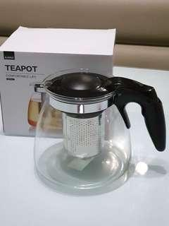 Heat Resistant GlassTeapot with Stainless Steel Strainer 900ml