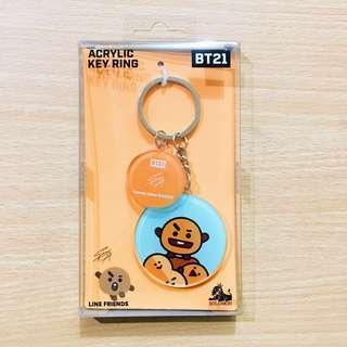 [ONHAND] BT21 Official Shooky Acrylic Keyring Keychain BTS Suga Yoongi