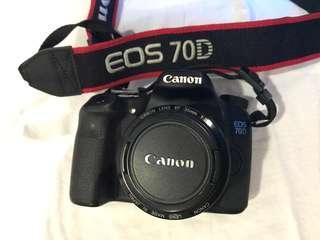 DSLR Canon 70D (body + 35mm lens + 17-50mm lens)
