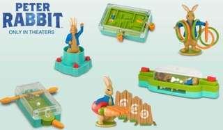 🚚 2018年紐西蘭麥當勞兒童餐玩具彼得兔peter rabbit 全新未拆6隻一套