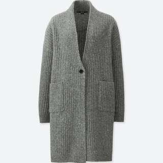 BNWT Uniqlo Wool Ribbed Knitted Coat