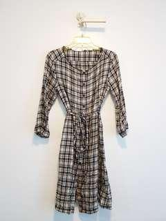 Checkered Button Down Dress
