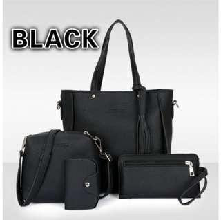 Ready stock_4 in 1 casual woman's handbags