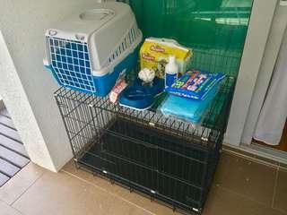 🚚 Cage plus free carrier and other items