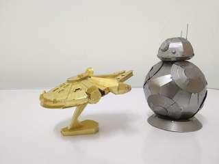 Star Wars Series 3D Metal Model Each