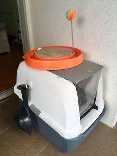 🚚 Catit Jumbo Litter Box plus free Cat Toy & Scooper