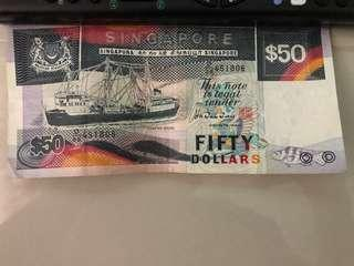 Old notes $50 $10 $5 $2 $1