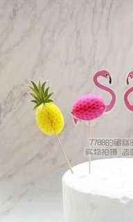 🚚 Pineapple Flamingo Toppers