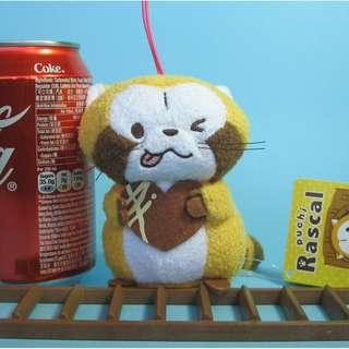 【Y235】浣熊 情人節版 公仔吊飾 (約高 10cm)