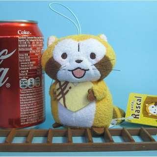 【Y236】浣熊 情人節版 公仔吊飾 (約高 10cm)