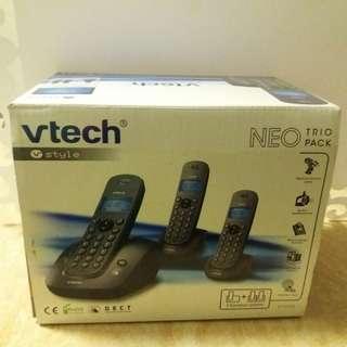 vtech neo trio pack 室內數碼無線電話(三機)