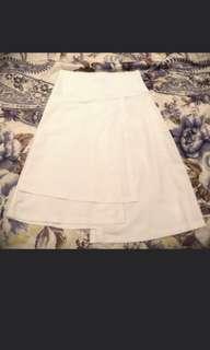 Irregular cut white dress xxl or bigger
