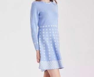 bread n butter Dress粉藍針織修身連身裙 bread n butter