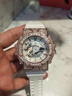 Gshock rose gold bling watch
