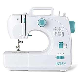 INTEY Electric Sewing Machine 16 Stitches Double Thread Household Multifunction, 2 Speed Adjustment with Pedal