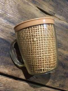 杯 70s 美國 膠杯 raffiaware