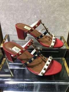 Valentino Garavani Rockstud Chunky Heel Sandals