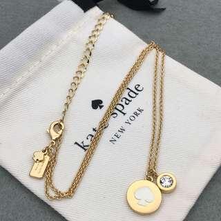 Kate Spade New York Sample Necklace 白色配金色頸鏈 NE052