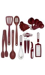 🚚 KitchenAid Tools and Gadget Set 17-Piece Set Red