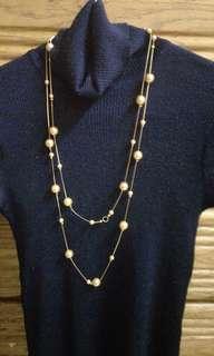 🚚 二層金色珠鍊