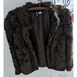 Divided H&M - Brown Faux Fur Jacket - Size 6