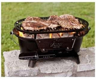 🚚 Lodge Cast Iron Sportsman's Grill. Large Charcoal Hibachi-Style Grill for Picnics, Tailgaiting, Camping or Patio. Two Adjustable Heights.