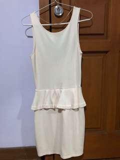 Zara dress cream