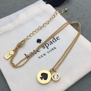 Kate Spade New York Sample Necklace 黑色配金色頸鏈 NE047