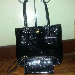 Original Coach Peyton black bag and wristlet wallet