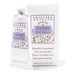 🚚 Crabtree and Evelyn lavender hand cream therapy