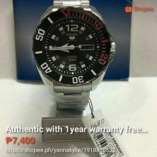 Authentic Seiko watch free shipping