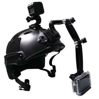 gopro头盔 hero5/6/4相机手机头盔固定支架骑行攀岩战术gopro配件