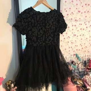 CNY sale- black lace dress