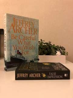 Jeffery Archer novels - Be Careful What You Wish For, False Impression