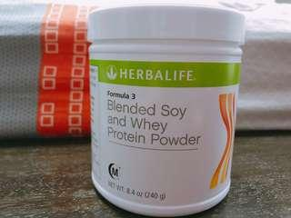 Herbalife Blended Soy and Whey Protein Powder