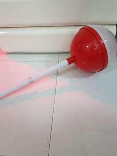 lolipop shaped container