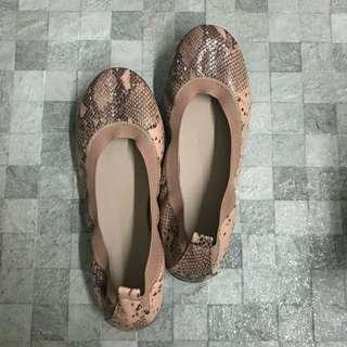 Nude Blush with Snake Ombre Ballet Flats
