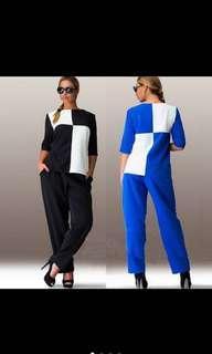 🚚 Women Patchwork Pant Suit
